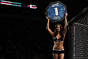 NASHVILLE, TN - JANUARY 20:  UFC Octagon Girl Arianny Celeste introduces round one before the Denis v Sandoval bout during the UFC on FX event at Bridgestone Arena on January 20, 2012 in Nashville, Tennessee.  (Photo by Josh Hedges/Zuffa LLC/Zuffa LLC via Getty Images)