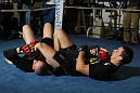 CHICAGO, IL - JANUARY 25:  Demian Maia works out for the media during the UFC on FOX open workouts at the Chicago Boxing Club on January 25, 2012 in Chicago, Illinois.  (Photo by Josh Hedges/Zuffa LLC/Zuffa LLC via Getty Images)