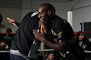 CHICAGO, IL - JANUARY 25:  Phil Davis works out for the media during the UFC on FOX open workouts at the Chicago Boxing Club on January 25, 2012 in Chicago, Illinois.  (Photo by Josh Hedges/Zuffa LLC/Zuffa LLC via Getty Images)