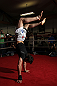 CHICAGO, IL - JANUARY 25:  Chael Sonnen works out for the media during the UFC on FOX open workouts at the Chicago Boxing Club on January 25, 2012 in Chicago, Illinois.  (Photo by Josh Hedges/Zuffa LLC/Zuffa LLC via Getty Images)
