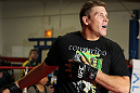CHICAGO, IL - JANUARY 25:  Mike Russow works out for the media during the UFC on FOX open workouts at the Chicago Boxing Club on January 25, 2012 in Chicago, Illinois.  (Photo by Josh Hedges/Zuffa LLC/Zuffa LLC via Getty Images)