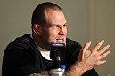 CHICAGO, IL - JANUARY 26:  Jon-Olav Einemo attends the UFC on FOX press conference at the W Hotel on January 26, 2012 in Chicago, Illinois.  (Photo by Josh Hedges/Zuffa LLC/Zuffa LLC via Getty Images) *** Local Caption *** Jon-Olav Einemo