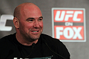 CHICAGO, IL - JANUARY 26:  UFC President Dana White attends the UFC on FOX press conference at the W Hotel on January 26, 2012 in Chicago, Illinois.  (Photo by Josh Hedges/Zuffa LLC/Zuffa LLC via Getty Images) *** Local Caption *** Dana White