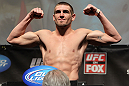 CHICAGO, IL - JANUARY 27:  Dustin Jacoby weighs in during the UFC on FOX official weigh in at the Chicago Theatre on January 27, 2012 in Chicago, Illinois.  (Photo by Josh Hedges/Zuffa LLC/Zuffa LLC via Getty Images) *** Local Caption *** Dustin Jacoby