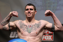 CHICAGO, IL - JANUARY 27:  Chris Camozzi weighs in during the UFC on FOX official weigh in at the Chicago Theatre on January 27, 2012 in Chicago, Illinois.  (Photo by Josh Hedges/Zuffa LLC/Zuffa LLC via Getty Images) *** Local Caption *** Chris Camozzi
