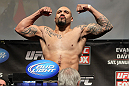 CHICAGO, IL - JANUARY 27:  Lavar Johnson weighs in during the UFC on FOX official weigh in at the Chicago Theatre on January 27, 2012 in Chicago, Illinois.  (Photo by Josh Hedges/Zuffa LLC/Zuffa LLC via Getty Images) *** Local Caption *** Lavar Johnson