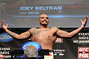 CHICAGO, IL - JANUARY 27:  Joey Beltran weighs in during the UFC on FOX official weigh in at the Chicago Theatre on January 27, 2012 in Chicago, Illinois.  (Photo by Josh Hedges/Zuffa LLC/Zuffa LLC via Getty Images) *** Local Caption *** Joey Beltran