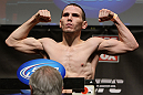 CHICAGO, IL - JANUARY 27:  Eric Wisely weighs in during the UFC on FOX official weigh in at the Chicago Theatre on January 27, 2012 in Chicago, Illinois.  (Photo by Josh Hedges/Zuffa LLC/Zuffa LLC via Getty Images) *** Local Caption *** Eric Wisely