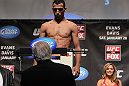 CHICAGO, IL - JANUARY 27:  Charles Oliveira weighs in during the UFC on FOX official weigh in at the Chicago Theatre on January 27, 2012 in Chicago, Illinois.  (Photo by Josh Hedges/Zuffa LLC/Zuffa LLC via Getty Images) *** Local Caption *** Charles Oliveira