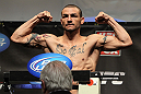 CHICAGO, IL - JANUARY 27:  Cub Swanson weighs in during the UFC on FOX official weigh in at the Chicago Theatre on January 27, 2012 in Chicago, Illinois.  (Photo by Josh Hedges/Zuffa LLC/Zuffa LLC via Getty Images) *** Local Caption *** Cub Swanson