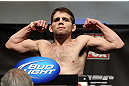 CHICAGO, IL - JANUARY 27:  Nik Lentz weighs in during the UFC on FOX official weigh in at the Chicago Theatre on January 27, 2012 in Chicago, Illinois.  (Photo by Josh Hedges/Zuffa LLC/Zuffa LLC via Getty Images) *** Local Caption *** Nik Lentz
