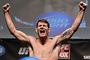 CHICAGO, IL - JANUARY 27:  Michael Bisping weighs in during the UFC on FOX official weigh in at the Chicago Theatre on January 27, 2012 in Chicago, Illinois.  (Photo by Josh Hedges/Zuffa LLC/Zuffa LLC via Getty Images) *** Local Caption *** Michael Bisping