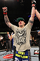 CHICAGO, IL - JANUARY 28:  Chris Camozzi reacts after defeating Dustin Jacoby during the UFC on FOX event at United Center on January 28, 2012 in Chicago, Illinois.  (Photo by Nick Laham/Zuffa LLC/Zuffa LLC via Getty Images) *** Local Caption *** Chris Camozzi