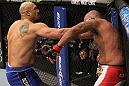 CHICAGO, IL - JANUARY 28:  (L-R) Lavar Johnson punches Joey Beltran during the UFC on FOX event at United Center on January 28, 2012 in Chicago, Illinois.  (Photo by Nick Laham/Zuffa LLC/Zuffa LLC via Getty Images) *** Local Caption *** Lavar Johnson; Joey Beltran