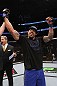 CHICAGO, IL - JANUARY 28:  Lavar Johnson reacts after knocking out Joey Beltran during the UFC on FOX event at United Center on January 28, 2012 in Chicago, Illinois.  (Photo by Nick Laham/Zuffa LLC/Zuffa LLC via Getty Images) *** Local Caption *** Lavar Johnson