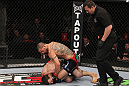 CHICAGO, IL - JANUARY 28:  (R-L) Cub Swanson defeats George Roop by TKO due to punches during the UFC on FOX event at United Center on January 28, 2012 in Chicago, Illinois.  (Photo by Nick Laham/Zuffa LLC/Zuffa LLC via Getty Images) *** Local Caption *** George Roop; Cub Swanson