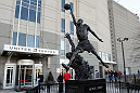 CHICAGO, IL - JANUARY 28:  Fans line up outside the arena before the UFC on FOX event at United Center on January 28, 2012 in Chicago, Illinois.  (Photo by Kari Hubert/Zuffa LLC/Zuffa LLC via Getty Images)