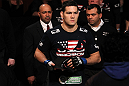 CHICAGO, IL - JANUARY 28:  Chris Weidman enters the arena before his bout against Demian Maia during the UFC on FOX event at United Center on January 28, 2012 in Chicago, Illinois.  (Photo by Nick Laham/Zuffa LLC/Zuffa LLC via Getty Images) *** Local Caption *** Chris Weidman