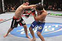 CHICAGO, IL - JANUARY 28:  (L-R) Chris Weidman punches Demian Maia during the UFC on FOX event at United Center on January 28, 2012 in Chicago, Illinois.  (Photo by Nick Laham/Zuffa LLC/Zuffa LLC via Getty Images) *** Local Caption *** Chris Weidman; Demian Maia