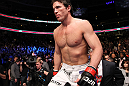 CHICAGO, IL - JANUARY 28:  Chael Sonnen enters the octagon before his bout against Michael Bisping during the UFC on FOX event at United Center on January 28, 2012 in Chicago, Illinois.  (Photo by Nick Laham/Zuffa LLC/Zuffa LLC via Getty Images) *** Local Caption *** Chael Sonnen