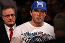 CHICAGO, IL - JANUARY 28:  Chael Sonnen enters the arena before his bout against Michael Bisping during the UFC on FOX event at United Center on January 28, 2012 in Chicago, Illinois.  (Photo by Josh Hedges/Zuffa LLC/Zuffa LLC via Getty Images) *** Local Caption *** Chael Sonnen