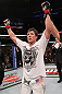 CHICAGO, IL - JANUARY 28:  Chael Sonnen reacts after defeating Michael Bisping during the UFC on FOX event at United Center on January 28, 2012 in Chicago, Illinois.  (Photo by Nick Laham/Zuffa LLC/Zuffa LLC via Getty Images) *** Local Caption *** Chael Sonnen