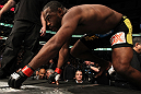 CHICAGO, IL - JANUARY 28:  Rashad Evans enters the Octagon before his bout against Phil Davis during the UFC on FOX event at United Center on January 28, 2012 in Chicago, Illinois.  (Photo by Nick Laham/Zuffa LLC/Zuffa LLC via Getty Images) *** Local Caption *** Rashad Evans