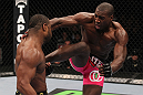 CHICAGO, IL - JANUARY 28:  (R-L) Phil Davis kicks Rashad Evans during the UFC on FOX event at United Center on January 28, 2012 in Chicago, Illinois.  (Photo by Nick Laham/Zuffa LLC/Zuffa LLC via Getty Images) *** Local Caption *** Rashad Evans; Phil Davis