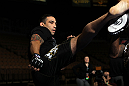 LAS VEGAS, NV - FEBRUARY 01:  Fabricio Werdum works out for the media and fans during the UFC 143 open workouts at Mandalay Bay Events Center on February 1, 2012 in Las Vegas, United States.  (Photo by Josh Hedges/Zuffa LLC/Zuffa LLC via Getty Images) *** Local Caption *** Fabricio Werdum