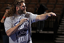 LAS VEGAS, NV - FEBRUARY 01:  Roy Nelson works out for the media and fans during the UFC 143 open workouts at Mandalay Bay Events Center on February 1, 2012 in Las Vegas, United States.  (Photo by Josh Hedges/Zuffa LLC/Zuffa LLC via Getty Images) *** Local Caption *** Roy Nelson