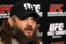 LAS VEGAS, NV - FEBRUARY 01:  Roy Nelson answers questions from the media during the UFC 143 open workouts at Mandalay Bay Events Center on February 1, 2012 in Las Vegas, United States.  (Photo by Josh Hedges/Zuffa LLC/Zuffa LLC via Getty Images) *** Local Caption *** Roy Nelson