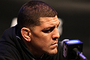 LAS VEGAS, NV - FEBRUARY 02:  Nick Diaz attends the UFC 143 final pre-fight press conference at the Mandalay Bay Hotel & Casino on February 2, 2012 in Las Vegas, United States.  (Photo by Josh Hedges/Zuffa LLC/Zuffa LLC via Getty Images) *** Local Caption *** Nick Diaz