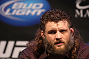 LAS VEGAS, NV - FEBRUARY 02:  Roy Nelson attends the UFC 143 final pre-fight press conference at the Mandalay Bay Hotel &amp; Casino on February 2, 2012 in Las Vegas, United States.  (Photo by Josh Hedges/Zuffa LLC/Zuffa LLC via Getty Images) *** Local Caption *** Roy Nelson