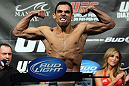 LAS VEGAS, NV - FEBRUARY 03:  Renan Barao weighs in during the UFC 143 official weigh in at Mandalay Bay Events Center on February 3, 2012 in Las Vegas, Nevada.|2:55:8  (Photo by Josh Hedges/Zuffa LLC/Zuffa LLC via Getty Images) *** Local Caption *** Renan Barao
