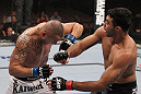 LAS VEGAS, NV - FEBRUARY 04:  Rafael Natal (right) punches Michael Kuiper during the UFC 143 event at Mandalay Bay Events Center on February 4, 2012 in Las Vegas, Nevada.  (Photo by Nick Laham/Zuffa LLC/Zuffa LLC via Getty Images) *** Local Caption *** Rafael Natal; Michael Kuiper