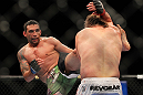 LAS VEGAS, NV - FEBRUARY 04:  Fabricio Werdum (left) kicks Roy Nelson during the UFC 143 event at Mandalay Bay Events Center on February 4, 2012 in Las Vegas, Nevada.  (Photo by Josh Hedges/Zuffa LLC/Zuffa LLC via Getty Images) *** Local Caption *** Fabricio Werdum; Roy Nelson