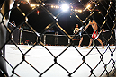 LAS VEGAS - FEBRUARY 04:  Carlos Condit (left) kicks Nick Diaz during the UFC 143 event at Mandalay Bay Events Center on February 4, 2012 in Las Vegas, Nevada.  (Photo by Nick Laham/Zuffa LLC/Zuffa LLC via Getty Images) *** Local Caption *** Carlos Condit; Nick Diaz