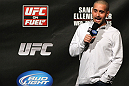 OMAHA, NE - FEBRUARY 14:  UFC commentator Jon Anik interacts with fans during a Q&amp;A session before the UFC on FUEL TV weigh in event at Omaha Civic Auditorium on February 14, 2012 in Omaha, Nebraska.  (Photo by Josh Hedges/Zuffa LLC/Zuffa LLC via Getty Images) *** Local Caption *** Jon Anik