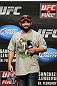 OMAHA, NE - FEBRUARY 14:  UFC fighter Johny Hendricks interacts with fans during a Q&amp;A session before the UFC on FUEL TV weigh in event at Omaha Civic Auditorium on February 14, 2012 in Omaha, Nebraska.  (Photo by Josh Hedges/Zuffa LLC/Zuffa LLC via Getty Images) *** Local Caption *** Johny Hendricks