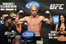 OMAHA, NE - FEBRUARY 14:  Bernardo Magalhaes weighs in during the UFC on FUEL TV weigh in event at Omaha Civic Auditorium on February 14, 2012 in Omaha, Nebraska.  (Photo by Josh Hedges/Zuffa LLC/Zuffa LLC via Getty Images) *** Local Caption *** Bernardo Magalhaes