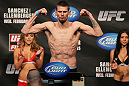 OMAHA, NE - FEBRUARY 14:  Tim Means weighs in during the UFC on FUEL TV weigh in event at Omaha Civic Auditorium on February 14, 2012 in Omaha, Nebraska.  (Photo by Josh Hedges/Zuffa LLC/Zuffa LLC via Getty Images) *** Local Caption *** Tim Means