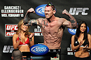 OMAHA, NE - FEBRUARY 14:  Sean Loeffler weighs in during the UFC on FUEL TV weigh in event at Omaha Civic Auditorium on February 14, 2012 in Omaha, Nebraska.  (Photo by Josh Hedges/Zuffa LLC/Zuffa LLC via Getty Images) *** Local Caption *** Sean Loeffler