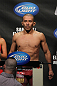 OMAHA, NE - FEBRUARY 14:  Ivan Menjivar weighs in during the UFC on FUEL TV weigh in event at Omaha Civic Auditorium on February 14, 2012 in Omaha, Nebraska.  (Photo by Josh Hedges/Zuffa LLC/Zuffa LLC via Getty Images) *** Local Caption *** Ivan Menjivar