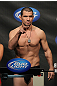 OMAHA, NE - FEBRUARY 14:  Aaron Simpson weighs in during the UFC on FUEL TV weigh in event at Omaha Civic Auditorium on February 14, 2012 in Omaha, Nebraska.  (Photo by Josh Hedges/Zuffa LLC/Zuffa LLC via Getty Images) *** Local Caption *** Aaron Simpson