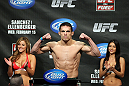 OMAHA, NE - FEBRUARY 14:  Jake Ellenberger weighs in during the UFC on FUEL TV weigh in event at Omaha Civic Auditorium on February 14, 2012 in Omaha, Nebraska.  (Photo by Josh Hedges/Zuffa LLC/Zuffa LLC via Getty Images) *** Local Caption *** Jake Ellenberger