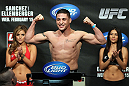 OMAHA, NE - FEBRUARY 14:  Diego Sanchez weighs in during the UFC on FUEL TV weigh in event at Omaha Civic Auditorium on February 14, 2012 in Omaha, Nebraska.  (Photo by Josh Hedges/Zuffa LLC/Zuffa LLC via Getty Images) *** Local Caption *** Diego Sanchez