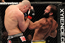 OMAHA, NE - FEBRUARY 15:  (R-L) Dave Herman punches Stefan Struve during the UFC on FUEL TV event at Omaha Civic Auditorium on February 15, 2012 in Omaha, Nebraska.  (Photo by Josh Hedges/Zuffa LLC/Zuffa LLC via Getty Images) *** Local Caption *** Stefan Struve; Dave Herman