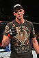 OMAHA, NE - FEBRUARY 15:  Stefan Struve reacts after his victory over Dave Herman during the UFC on FUEL TV event at Omaha Civic Auditorium on February 15, 2012 in Omaha, Nebraska.  (Photo by Josh Hedges/Zuffa LLC/Zuffa LLC via Getty Images) *** Local Caption *** Stefan Struve