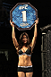 OMAHA, NE - FEBRUARY 15:  UFC Octagon Girl Brittney Palmer introduces round one before the Menjivar v Albert bout during the UFC on FUEL TV event at Omaha Civic Auditorium on February 15, 2012 in Omaha, Nebraska.  (Photo by Josh Hedges/Zuffa LLC/Zuffa LLC via Getty Images) *** Local Caption *** Arianny Celeste