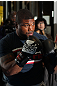 TOKYO, JAPAN - FEBRUARY 22:  Quinton &quot;Rampage&quot; Jackson works out for the media during the UFC 144 open workouts at Gold&#39;s Gym on February 22, 2012 in Tokyo, Japan.  (Photo by Josh Hedges/Zuffa LLC/Zuffa LLC via Getty Images) *** Local Caption *** Quinton Jackson